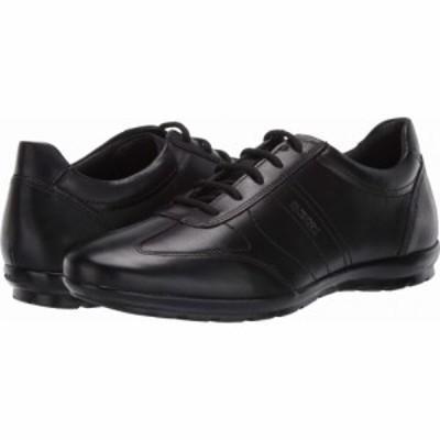 ジェオックス Geox メンズ シューズ・靴 Uomo Symbol Black Smooth Leather
