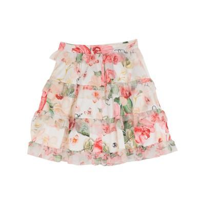 PHILIPP PLEIN ひざ丈スカート ホワイト M シルク 100% / ポリウレタン ひざ丈スカート
