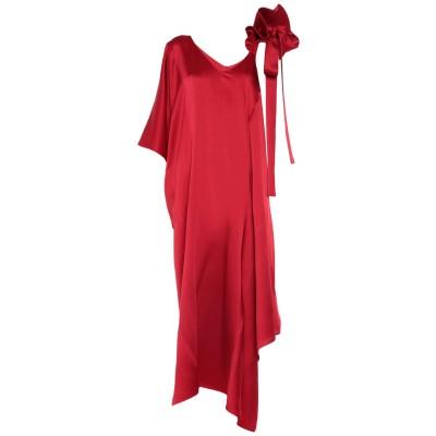 ヴァレンティノ VALENTINO 7分丈ワンピース・ドレス レッド 38 レーヨン 53% / アセテート 47% 7分丈ワンピース・ドレス