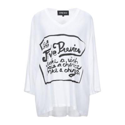 5PREVIEW Tシャツ ファッション  レディースファッション  トップス  Tシャツ、カットソー  半袖 ホワイト