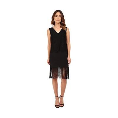 Nicole Miller レディース Fringe and レース Shift ドレス, ブラック/Black, 4(海外取寄せ品)