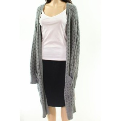 HEATHER  ファッション トップス CENY Womens Heather Gray Size Small S Open Front Long Knit Cardigan