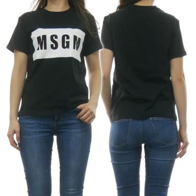 MSGM エムエスジーエム レディースクルーネックTシャツ 2641MDM95 195298 ブラック