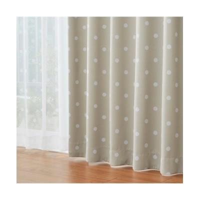 スイーツカラーのドット柄遮光カーテン&昼間見えにくいレース4枚セット カーテン&レースセット, Curtains, sheer curtains, net curtains(ニッセン、nissen)