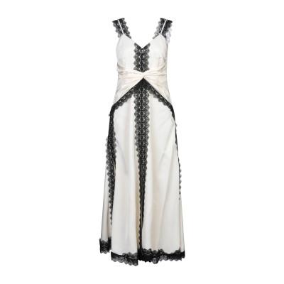 SELF-PORTRAIT ロングワンピース&ドレス アイボリー 10 ポリエステル 100% ロングワンピース&ドレス