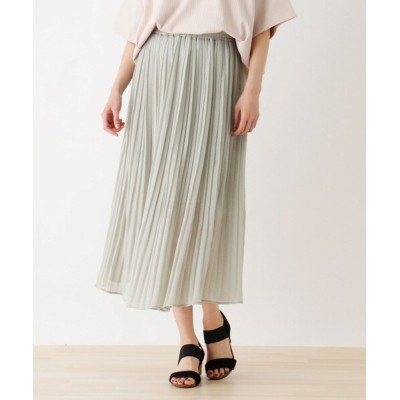 SHOO・LA・RUE / シアーラメプリーツロングスカート WOMEN スカート > スカート