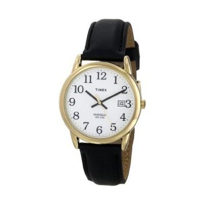タイメックス Timex メンズ T2H291 イージー リーダー ブラック レザー ストラップ ウォッチ(海外取寄せ品)
