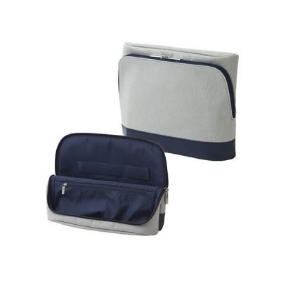 [ソニック] バッグインバッグ ユートリム スマ・スタ キャンバス地 タブレット立つバッグインバッグ グレー UT-4042-GL
