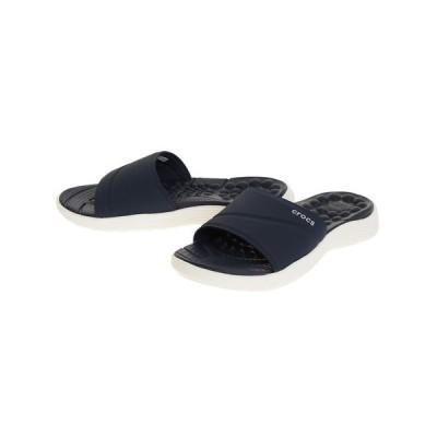 クロックス(crocs) サンダル リバイバ スライド Nvy 205474-462 オンライン価格 (レディース)