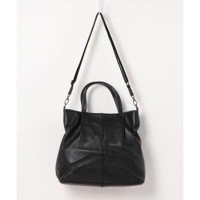 トートバッグ バッグ A4対応シューリンクリアルレザートートバッグ