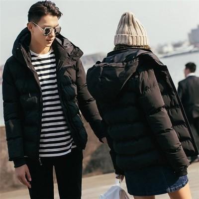 カープルお揃いダウンコートレディースメンズ中綿入りジャケット厚手アウター暖か防寒厚手体型カバー秋冬上着
