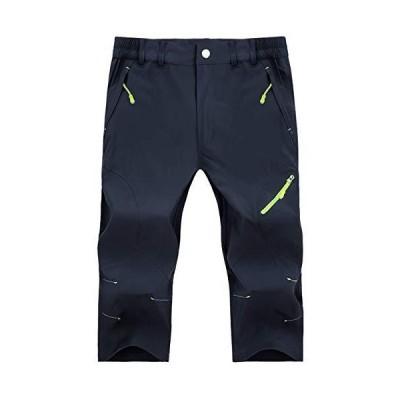 KEFITEVD フィッシングパンツ メンズ 撥水 ゴルフ ズボン 大きいサイズ カジュアル サイクルパンツ アウトドア 紺 ネイビー M