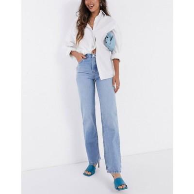 エイソス ASOS DESIGN レディース ジーンズ・デニム ボトムス・パンツ Mid Rise '90'S' Straight Leg Jeans In Midwash ライトウォッシュ