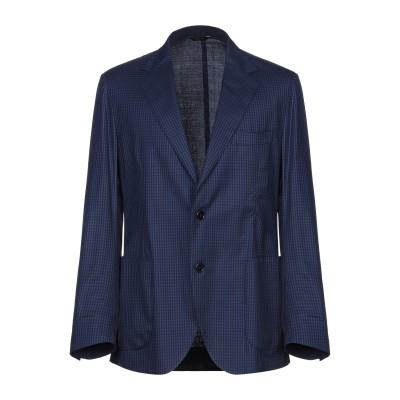 TOMBOLINI テーラードジャケット ダークブルー 58 ウール 83% / シルク 15% / ポリウレタン® 2% テーラードジャケット
