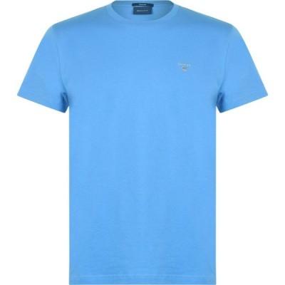 ガント Gant メンズ Tシャツ ロゴTシャツ トップス Crew Logo T Shirt Blue