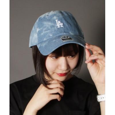 FUNALIVE / 【47 brand】オフィシャルメジャーリーガー 球団シティミニロゴ刺繍デニムベースボールキャップ MEN 帽子 > キャップ