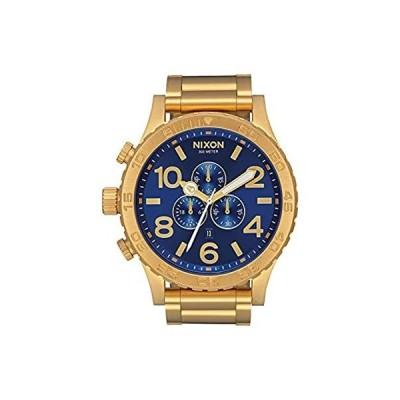 【新品未使用品】NIXON 51-30 Chrono A088 - All Gold/Blue Sunray - 305M Water Resistant Men's【並行輸入品】