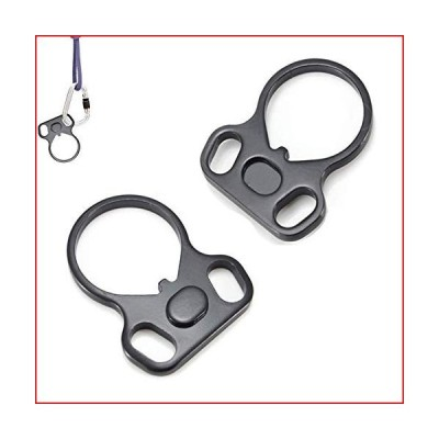 MHSDHSD Multifuctional Connection Adapter Steel Black Outdoor Sports Accessories Slings 2 Pack【並行輸入品】