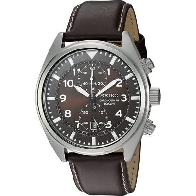 セイコーSeiko メンズ時計 クロノグラフ ブラウンレザー SNN241 腕時計