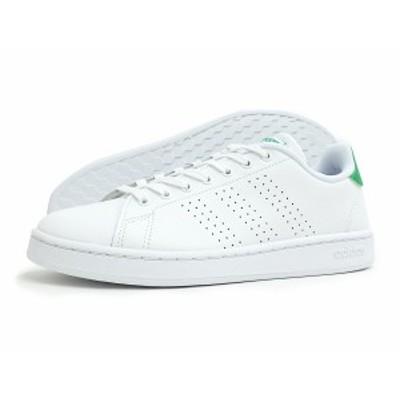 adidas(アディダス)ADVANCOURT LEA M(アドバンコート ベース)(F36424/ホワイト×グリーン) スニーカー 靴 ローカット 白 緑 メンズ レデ