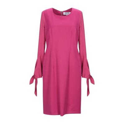 MARTA STUDIO ミニワンピース&ドレス フューシャ 38 ナイロン / バージンウール / ポリウレタン ミニワンピース&ドレス