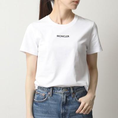 MONCLER モンクレール 8C7A610 829FB MAGLIA GIROCOLLO Tシャツ ちびロゴT 半袖 カットソー クルーネック コットン 001 レディース