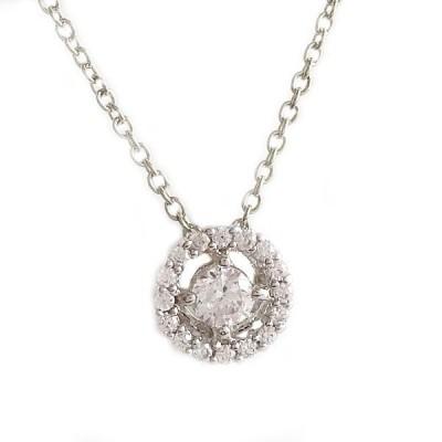 ホワイトゴールド K10 ダイヤモンド ネックレス ペンダント K10wg ダイヤ 0.09ct