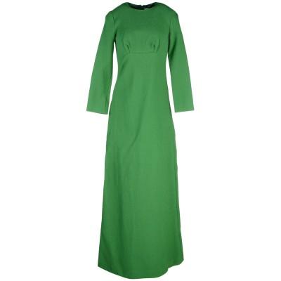 MERCHANT ARCHIVE ロングワンピース&ドレス グリーン 10 ポリエステル 86% / シルク 14% ロングワンピース&ドレス