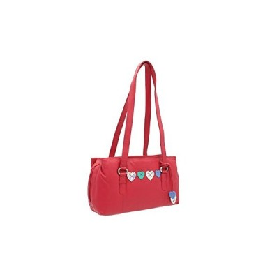 Mala Leather LUCY Collection Triple Zip Leather Shoulder Bag 734_30 Raspberry 並行輸入品