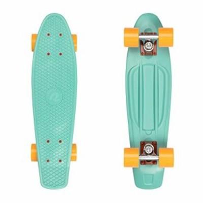 Retrospec Quip Skateboard 225 - Classic Retro Plastic Cruiser Complete Skateboard - Compact Board wGrippy Molded Waffle D