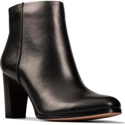 クラークス CLARKS レディース ブーツ シューズ・靴 Kaylin Fern Bootie Black/Black Leather
