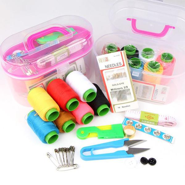 BO雜貨【SV9616】多功能針線盒 可攜帶針線盒 針線包 剪刀 尺  縫紉工具組 裁縫 逢衣物 居家必備