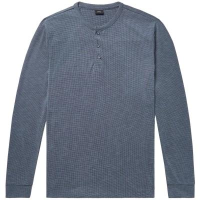 ONIA T シャツ ブルーグレー L レーヨン 66% / ポリエステル 34% T シャツ