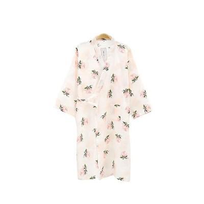 (ケヤカ) Keyaka 寝巻き パジャマ レディース 浴衣 レディース 甚平 花柄 綿 前開き 婦人服 全6柄 ねまき 部屋着 寝間着 ルームウェア