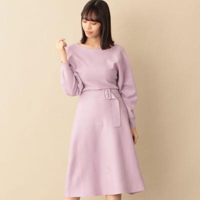 ウエストマークニットドレス