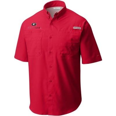 コロンビア シャツ トップス メンズ Columbia Sportswear Men's University of Georgia Tamiami Shirt Red