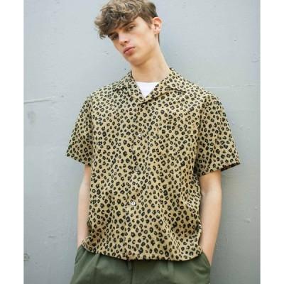 シャツ ブラウス パターンオープンカラーシャツ