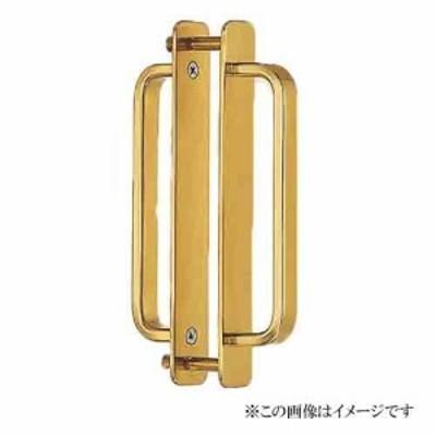 シロクマ 白熊印・DB-4 真鍮 角形座付取手 両面用 大