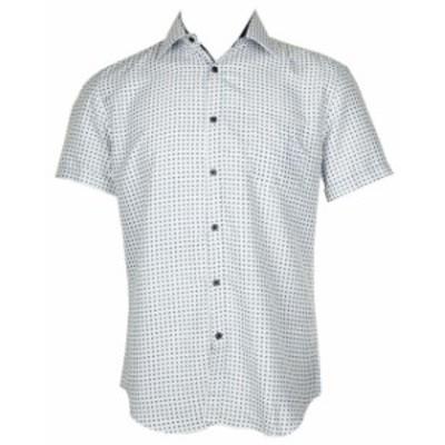 ファッション アウター Daniel K Mens Kurzarmelig Printed Viscose Button Shirt