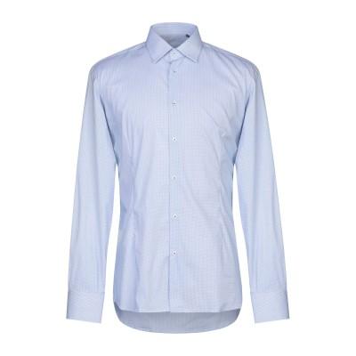EREDI DEL DUCA シャツ アジュールブルー XXL コットン 72% / ナイロン 25% / ポリウレタン 3% シャツ