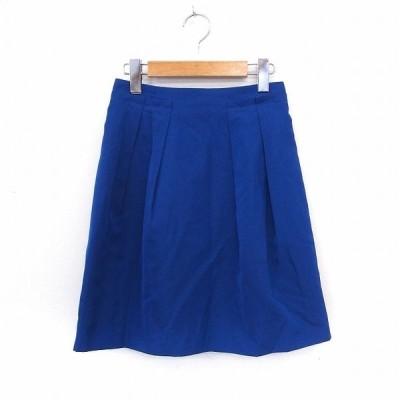 【中古】ボールジー BALLSEY トゥモローランド スカート 膝丈 台形 バックジップ シンプル 34 ブルー /ST18 レディース 【ベクトル 古着】