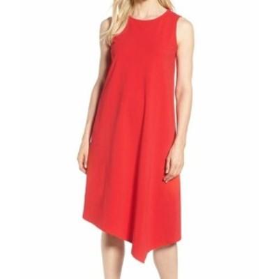 NIC+ZOE ニックゾー ファッション ドレス NIC+ZOE NEW Red Womens Size XL Asymmetrical Crewneck Shift Dress