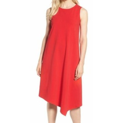 NIC+ZOE ニックゾー ファッション ドレス NIC+ZOE NEW Red Womens Size XL Asymmetrical Crewneck Shift Dress