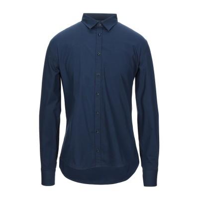 インディビジュアル INDIVIDUAL シャツ ブルー M コットン 97% / ポリウレタン 3% シャツ