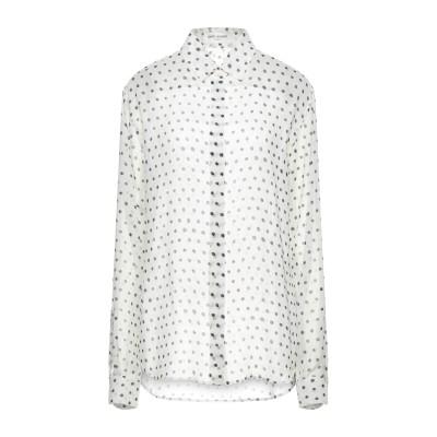SAINT LAURENT シャツ ホワイト 44 シルク 100% シャツ