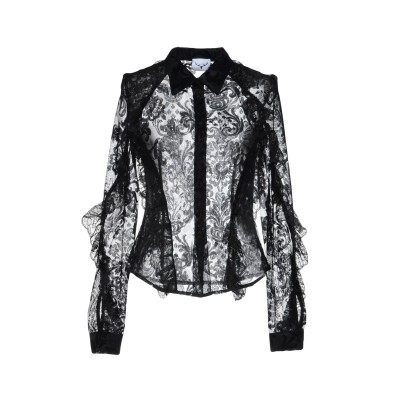 LEITMOTIV シャツ ブラック 42 ポリエステル 100% シャツ