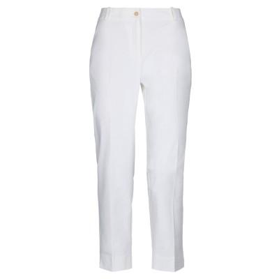 メッサジェリエ MESSAGERIE パンツ ホワイト 48 コットン 48% / ナイロン 43% / ポリウレタン 9% パンツ
