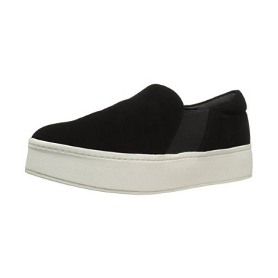 Vince Women's Warren Slip On Platform Sneaker, Black, 7.5 Medium US【並行輸入品】