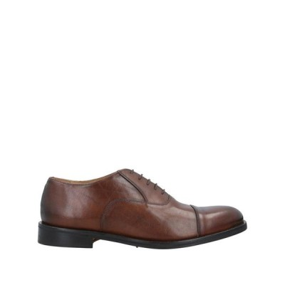 ANTICA CUOIERIA NAPOLETANA レースアップシューズ  メンズファッション  メンズシューズ、紳士靴  その他メンズシューズ、紳士靴 ブラウン