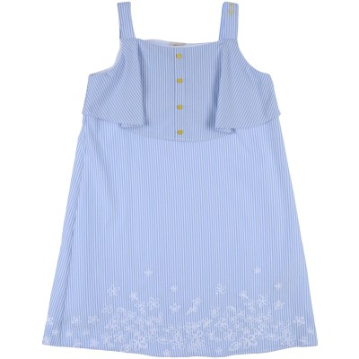 ARMANI JUNIOR ワンピース&ドレス スカイブルー 14 ポリエステル 50% / コットン 50% ワンピース&ドレス